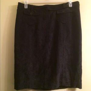Black corduroy skirt with pockets